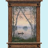 Fishermans Dream Window Peel and Stick Wall Mural