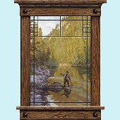 Fishermans Selway Window Peel and Stick Wall Mural