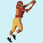 Football Player Peel and Stick Wall Mural