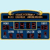Football Scoreboard Peel and Stick Wall Mural