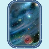 Galaxy Space Window 3 Peel and Stick Wall Mural