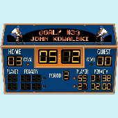 Hockey Scoreboard Peel and Stick Wall Mural