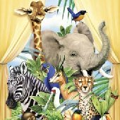 Jungle Animals Canopy Peel and Stick Wall Mural