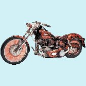 Motocycle Peel and Stick Wall Mural