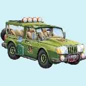 Safari Wagon Peel and Stick Wall Mural