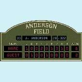 Baseball Scoreboard Peel and Stick Wall Mural