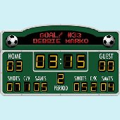 Soccer Scoreboard Peel and Stick Wall Mural