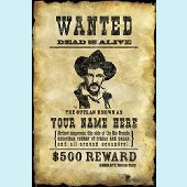 Wanted Poster - Boys Peel and Stick Wall Mural