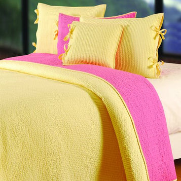 Quilt Bedding Sets  Girls on Dawn Yellow Coral Quilt Bedding Set   The Frog And The Princess