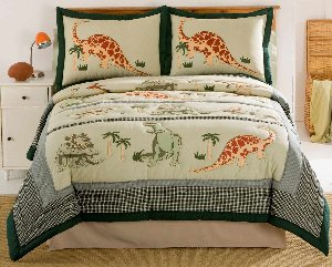 Dinosaur Quilt and Sham Set