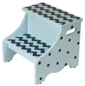 Chevron Step Stool Multiple Colors