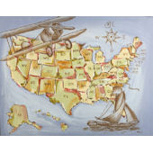 American Expedition Canvas Wall Art