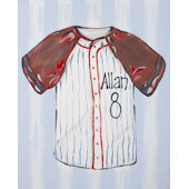 Baseball Jersey Canvas Wall Art
