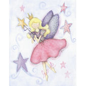 Blonde Fairy Framed Wall Art