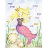 Blonde Mermaid Framed Wall Art