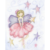 Brunette Fairy Framed Wall Art