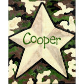 Camo Star Canvas Wall Art