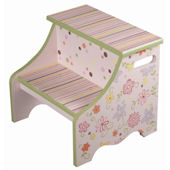 Funky Flowers Step Stool