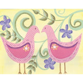 Love Birds Framed Wall Art