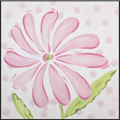 Pink Daisy Imagination Square