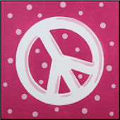 Pink Peace Imagination Square