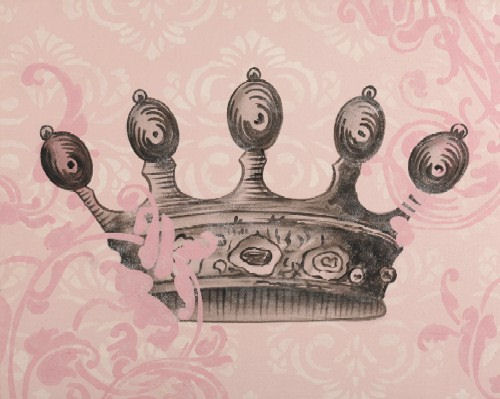 Black Crown Wall Decor : Regal crown black canvas wall art the frog and princess