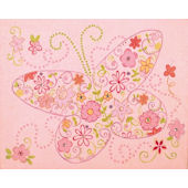 Sparkle Butterfly Canvas Wall Art