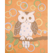 Whimsy Owl Canvas Wall Art