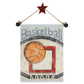 Basketball Hand Painted Hanging Canvas