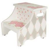 Gray Rose Step Stool