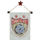 Soccer Hand Painted Hanging Canvas