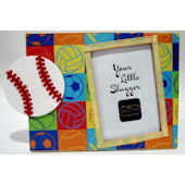 Ribbon Made Boy Baseball Frame