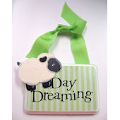 Ribbon Made Day Dreaming Door Hanger