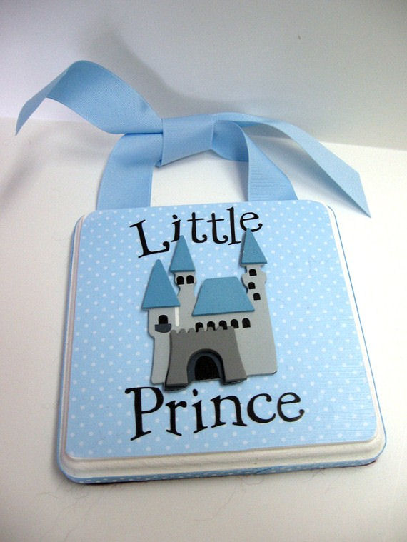 Ribbon Made Little Prince 2 Light Blue Door Hanger