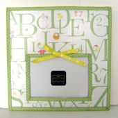 Ribbon Made Pale Green Baby ABC Frame