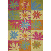 Rizzy Home Checker Flowers  Rug