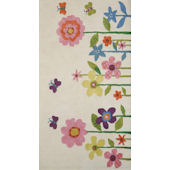 Rizzy Home Flowers and Butterflies  Rug