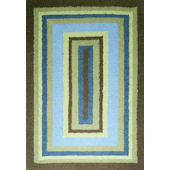 Rizzy Home Green and Brown Rug
