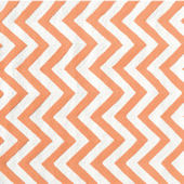 The Rug Market Chevron Tangerine Rug