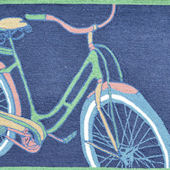 Bike It Navy Rug