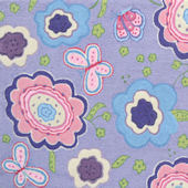 Spring Time Purple Rug