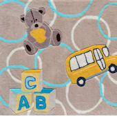 ABC Bear Brown Rug