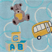 ABC Bear Blue Rug