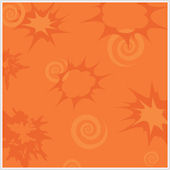 Bursts and Scroll Orange  Wallpaper