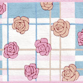 Scattered Rosenplaid  Rug