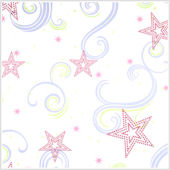 Star Glitter White Pink and Purple  Wallpaper