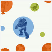 Toy Story Circles and Silhouettes  Wallpaper