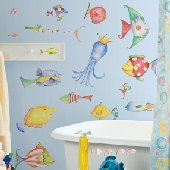 Sea Creatures Peel and Stick Appliques