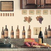 Wine Peel and Stick Appliques