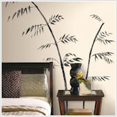 Painted Bamboo Peel and Stick Wall Decals